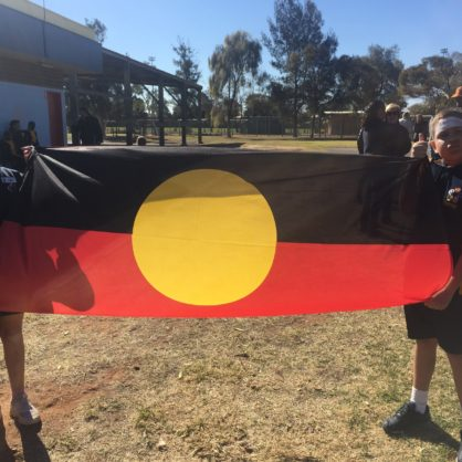 Naidoc March Flag Bearers